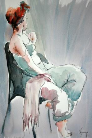 ACHAT DE LA VILLE : Françoise NDONGO n° 187 « Femme assise au turban »