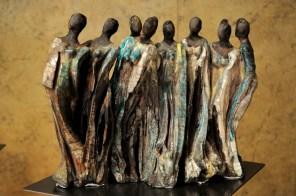 PRIX Elisabeth LAMURE, décerné par Mme Elisabeth LAMURE, sénateur -maire de Gleizé Chris MANUS pour l'ensemble de son œuvre peinture et sculpture