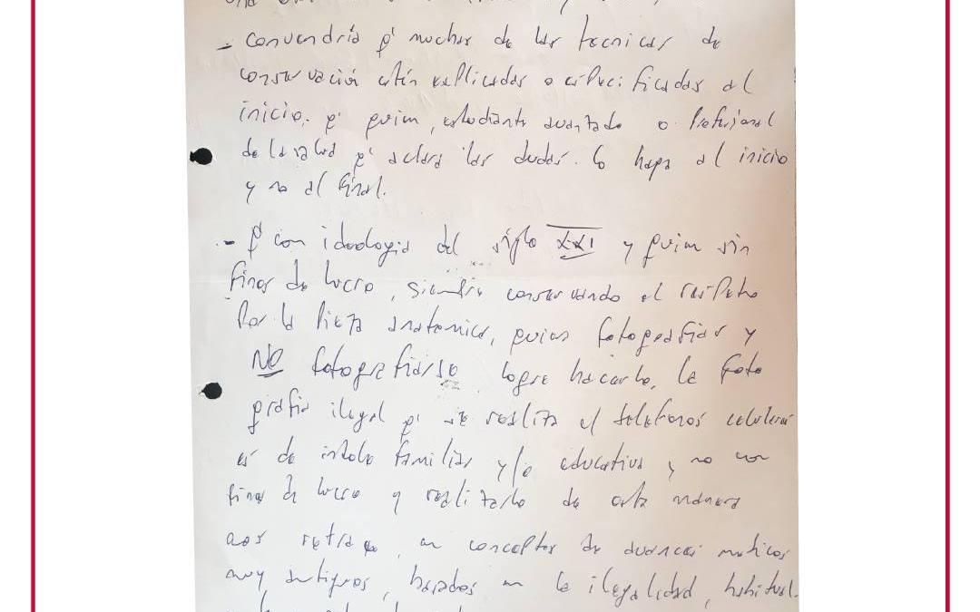 Dolores psíquicos en la escritura