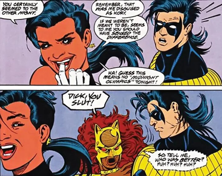 Present-day Nightwing had his own problems with Mirage...