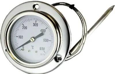 termometro in acciaio inox per forno a legna