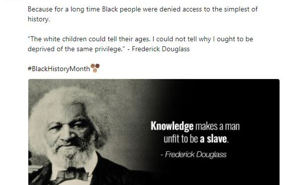 Why Black History Month Matters — From Frederick Douglas