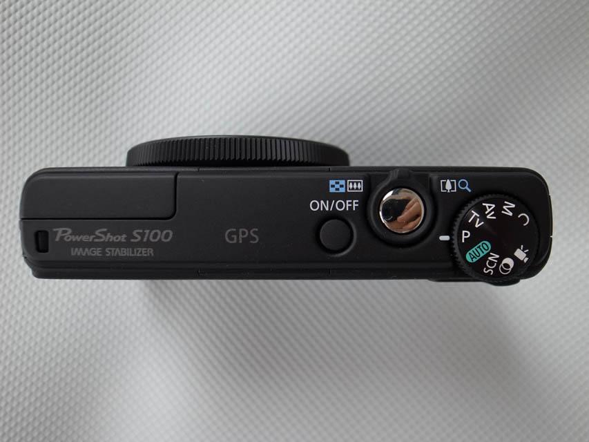 PowerShot S100上部