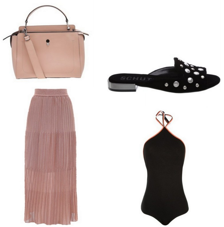 saia midi blush, moda, estilo, tendência, look, item da semana, inspiração, fashion, style, outfit, midi skirt, pleats, inspiration