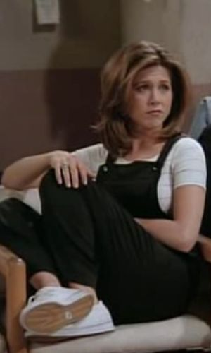 rachel green, jennifer aniston, friends, anos 90, looks, tendência, moda, estilo, trend, 90s, outfits, fashion, style, macacão, overalls