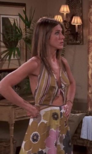 rachel green, jennifer aniston, friends, anos 90, looks, tendência, moda, estilo, trend, 90s, outfits, fashion, style, cutout, recorte