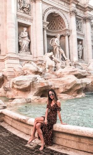 Fontana di Trevi, Roma, viagem, moda, estilo, look do dia, Gabi May, Trevi Fountain, Rome, travel, travel tips, fashion, style, ootd, outfit