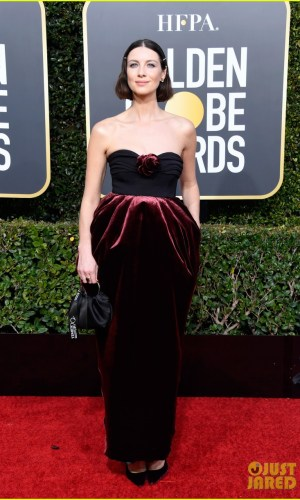 golden globes 2019, golden globes, awards season, red carpet, fashion, look, gown, tapete vermelho, premiação, moda, look, vestido longo, hollywood, caitriona balfe