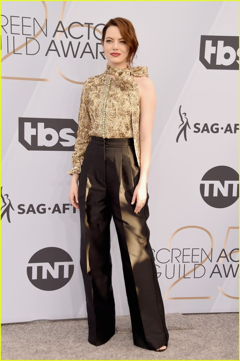 sag awards 2019, best dressed, mais bem vestidas, hollywood, moda, estilo, looks, fashion, style, outfits, emma stone, louis vuitton