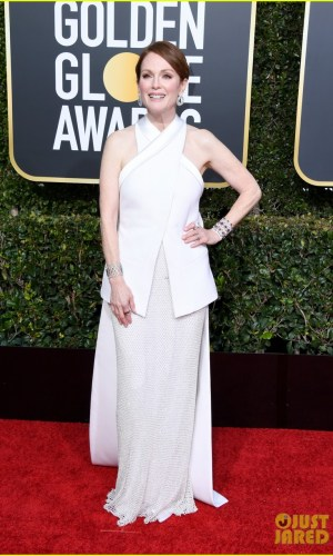 golden globes 2019, golden globes, awards season, red carpet, fashion, look, gown, tapete vermelho, premiação, moda, look, vestido longo, hollywood, julianne moore