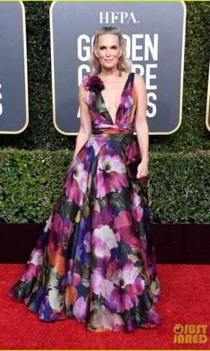 golden globes 2019, golden globes, awards season, red carpet, fashion, look, gown, tapete vermelho, premiação, moda, look, vestido longo, hollywood, molly sims