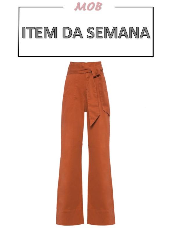 calça flare cós alto com faixa na cintura, moda, estilo, looks, item da semana, item of the week, flare pants with waist clinching tie