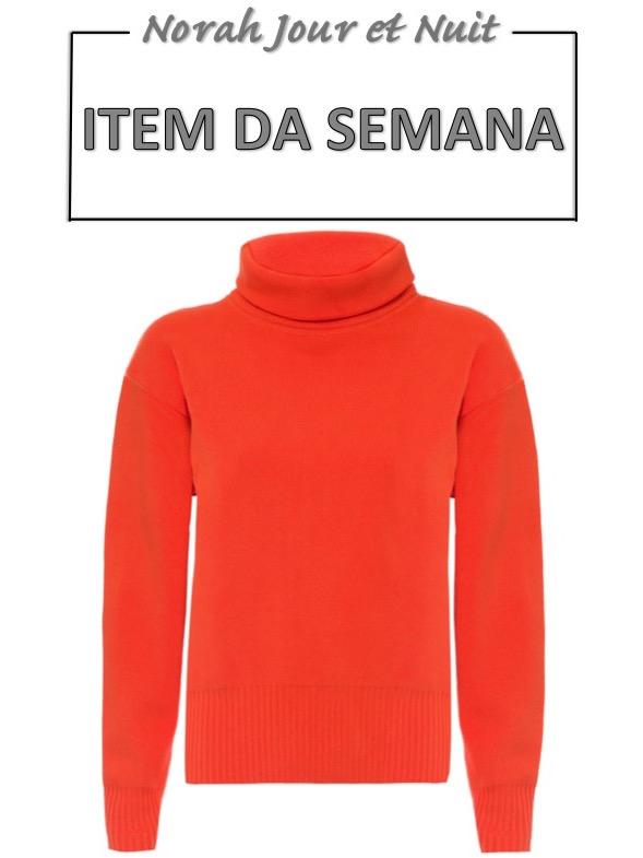 tricot laranja, item da semana, link afiliado, moda, estilo, looks, combinação, orange sweater, fashion, style, outfit, item of the week, affiliate link