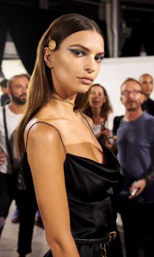 wmily ratajkowski, cowl neck dress, trend
