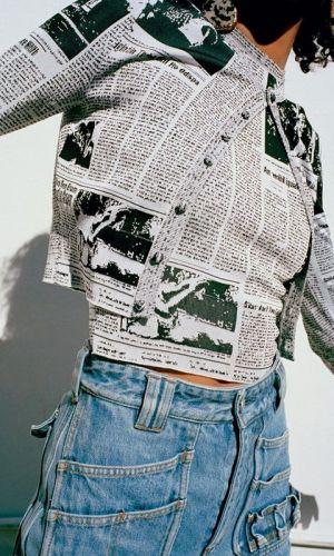 estampa de jornal, tendência, moda, newspaper print, trend, fashion, balenciaga