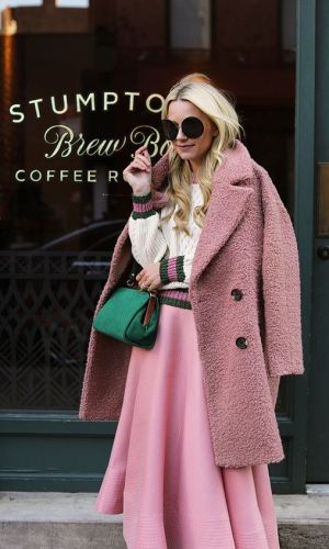 look rosa e verde, color block, pink and green