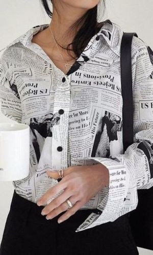estampa de jornal, tendência, moda, newspaper print, trend, fashion