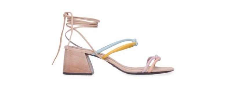 sandália em tons pastel, moda, estilo, looks, item da semana, candy color block heel sandal