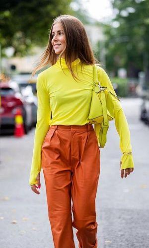 nina sandbech, looks coloridos, street style, color blocking