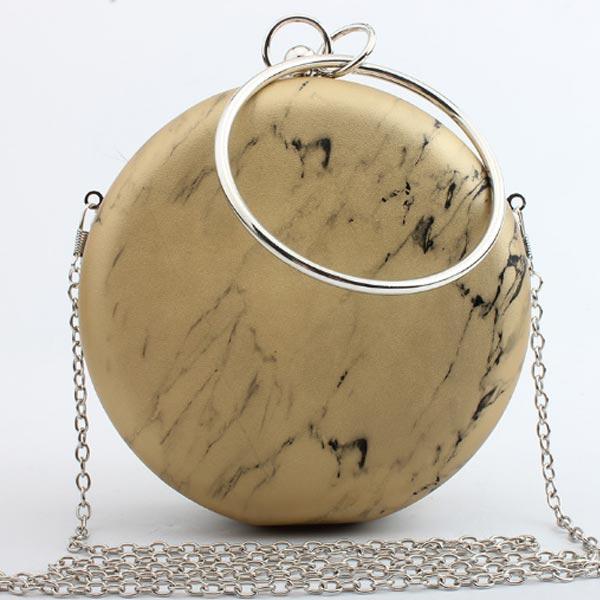 mavin marble ring clutch bag gold