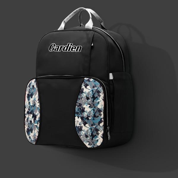 Peep Art Diaper Bag for Elegant Mums in black color