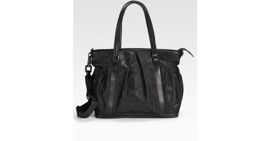 black burberry diaper bag