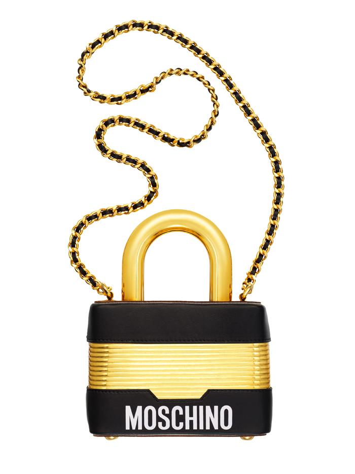 moschino clutch bag padlock