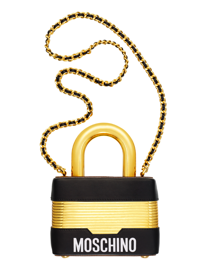 moschino clutch bag padlock