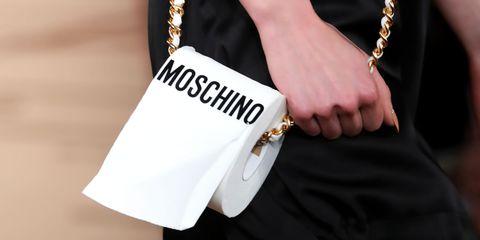 moschino clutch bag tissue paper