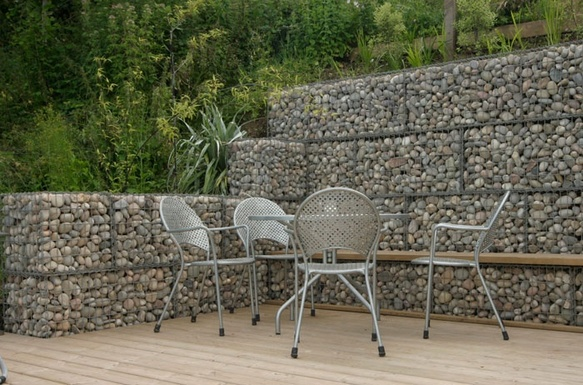 Stone Wall Ideas Garden Wall Design And Cost Gabion1 Australia