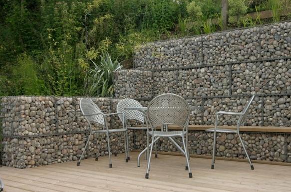 Stone Wall Ideas Garden Wall Design And Cost Gabion1 Australia