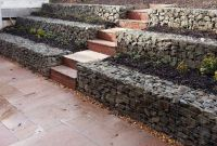 Gabion Retaining Wall Terraced Garden