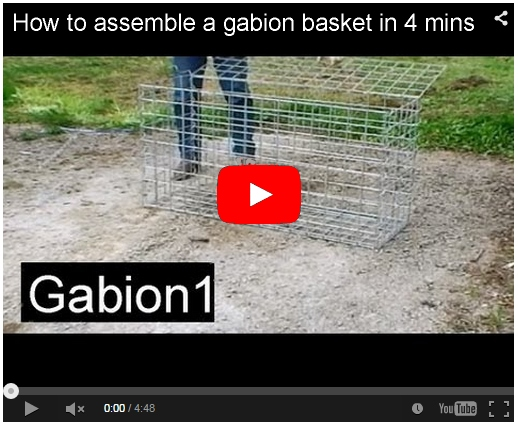 assemble gabion in 4 mins