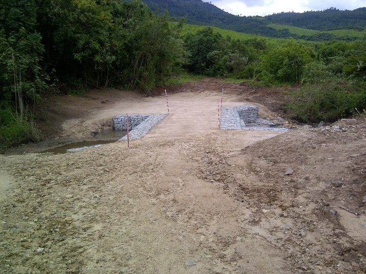 gabion river crossing