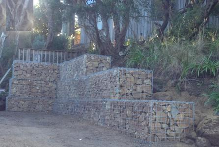 large gabion wall surcharge
