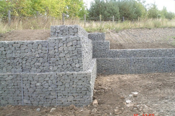 gabion retaining wall offset - Gravity Wall Design
