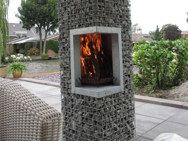 Gabion Fireplace Used for Decorative Furniture Barbecue Table
