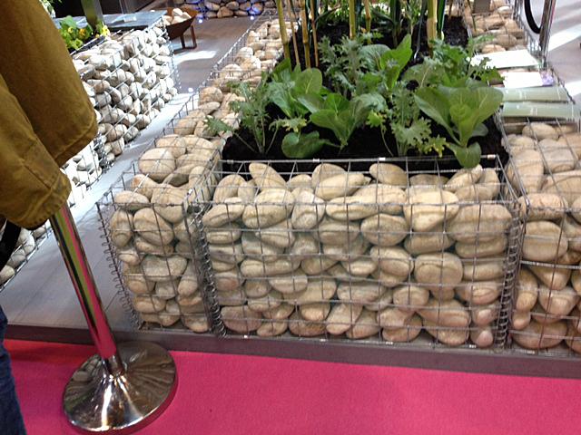 Gabion planter for vegteble of flower bed