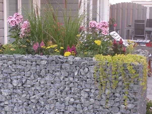 jardiniere gabion 120 x 50 x 50 cm