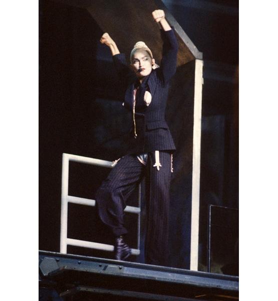 Madonna power suit