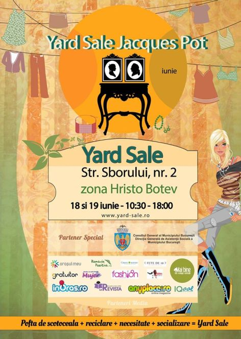 yard sale 18-19 iunie