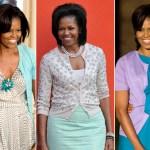 Michelle Obama si una din piesele de rezistenta ale stilul sau - jacheta cu nasturi
