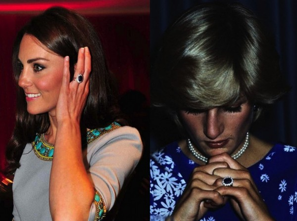 Inelul de logodna al lui Lady Di acum al lui Kate Middleton
