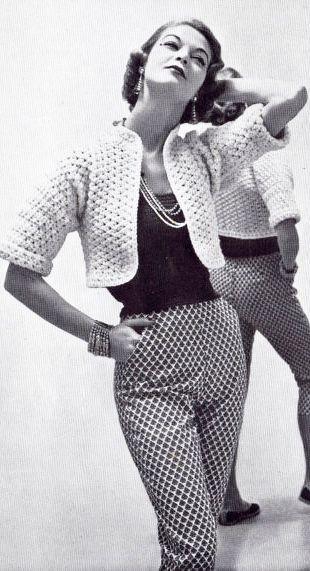 Jean Patchett 1950 pantaloni cu buzunare, mai mult decorative