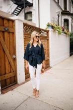 Jeans alb - manevra vestimentara de vara