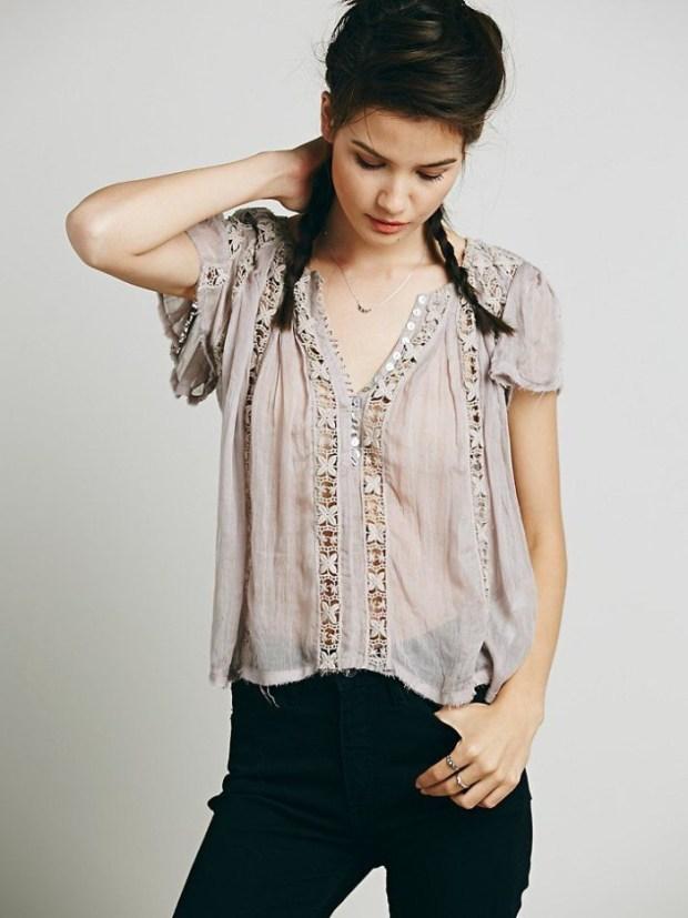 Bluza din dantela – manevra vestimentara de vara