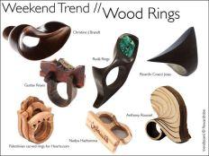 Inele din lemn - bijuterie contemporana