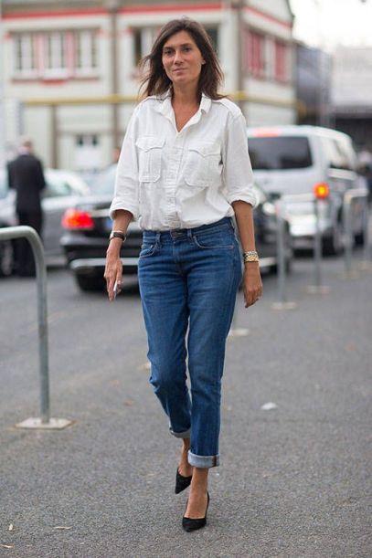 Emanuelle Alt boyfriend jeans
