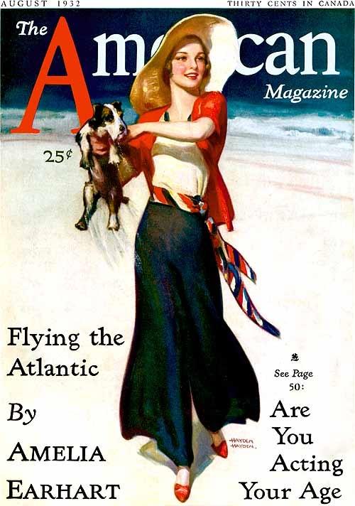 Fusta pantalon pe coperta American Magazine