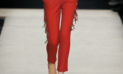 Pantaloni Cigarette rosii